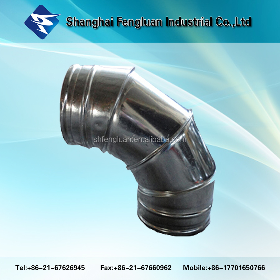Insulated fabricated bends 90 Degree Elbow/ventilation fittings/spiral duct fittings