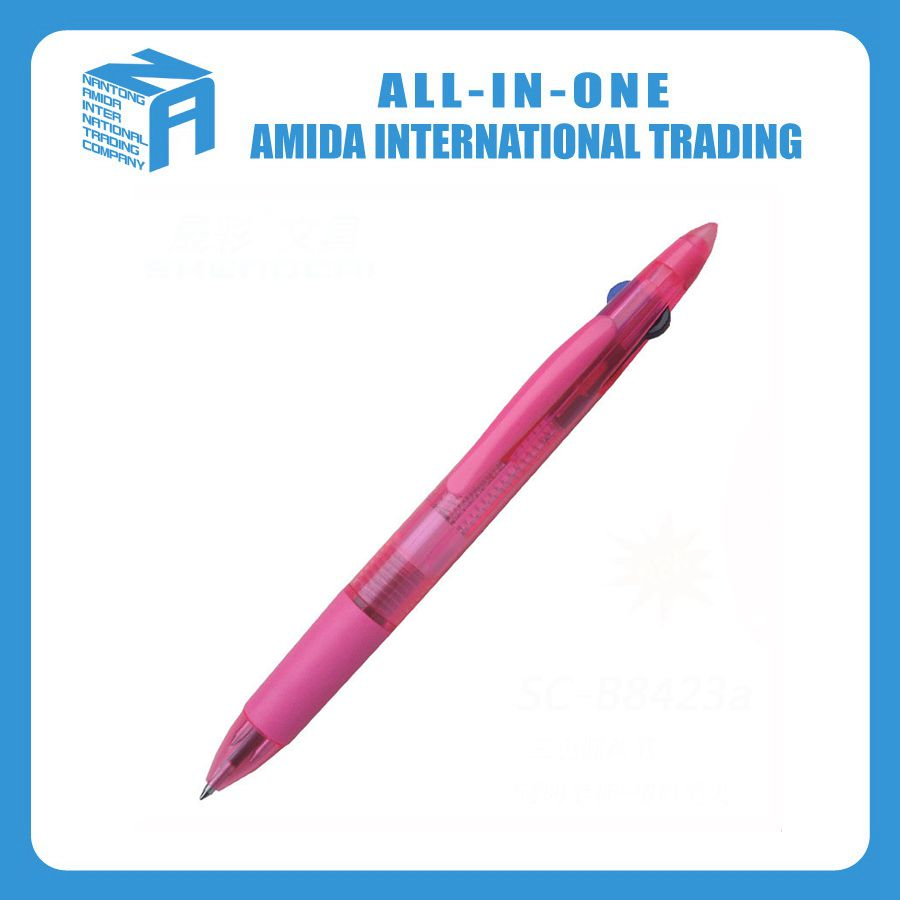 Plastic three color pen, Exquisite business advertising <strong>promotion</strong> three pens