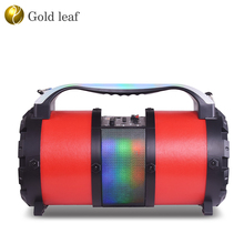 30W rms loud LED light fashion portable stereo speaker multi-colored 5.25 inch subwoofer car audio speakers with handle