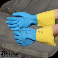 SRSAFETY neoprene and latex fully dipped industrial glove