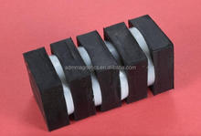 "N42 1/2"" x 1/2"" x 1/2"" thick Black Rubber Coated Neodymium Magnet"