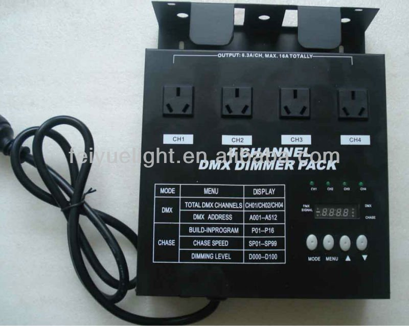 4 channel DMX dimmer pack