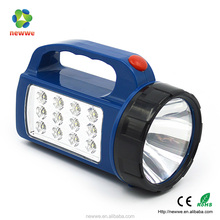 Factory sale safety dry battery powerful ABS 12 LED electric hand lamp
