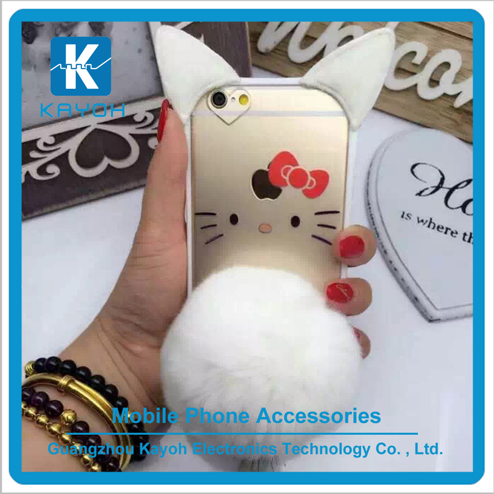 [kayoh] Cat tail pattern case for mobile phone characteristic cat's eye case