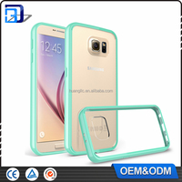 Newest best sell shockproof soft TPU transparent acrylic combo case for samsung galaxy note