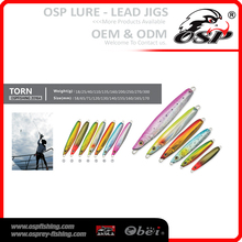 Freshwater lead metal jigging OSP Lead JIGS lure artificial fish lures TORN 2016A