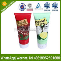 Recyclable silk screen printing 100ml cosmetic soft tube supplier