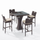 Hot model french bistro rattan outdoor garden bar table and chairs