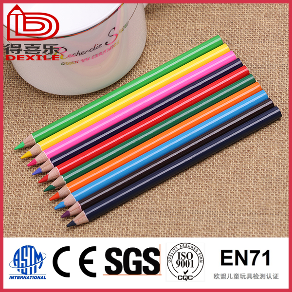 12pcs wooden color pencil EN71/ASTM D4236 for OEM