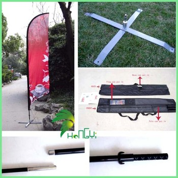 OEM Accepted Eco-Friendly Oxford Cloth Beach Flag Pole