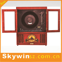 Wholesales Retro Wooden Vinyl Records Player / Gramophone / Phonograph / Antique Turntable