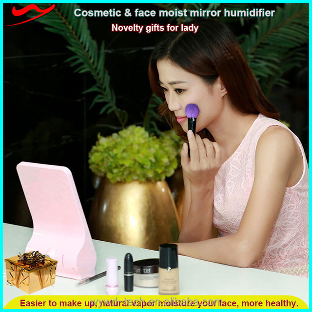 LED Make-up mirror humidifier / Moisturizing skin USB ultrasonic scent diffuser