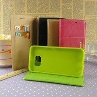 Hot selling wallet case for iphone 4 5 6 6 plus kickstand wallet card slot cell mobile phone case wholesale