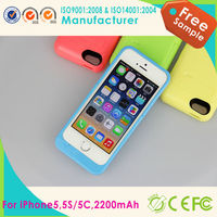 Plastic power bank external rechargeable backup battery charger cover case for iphone 5s/5c