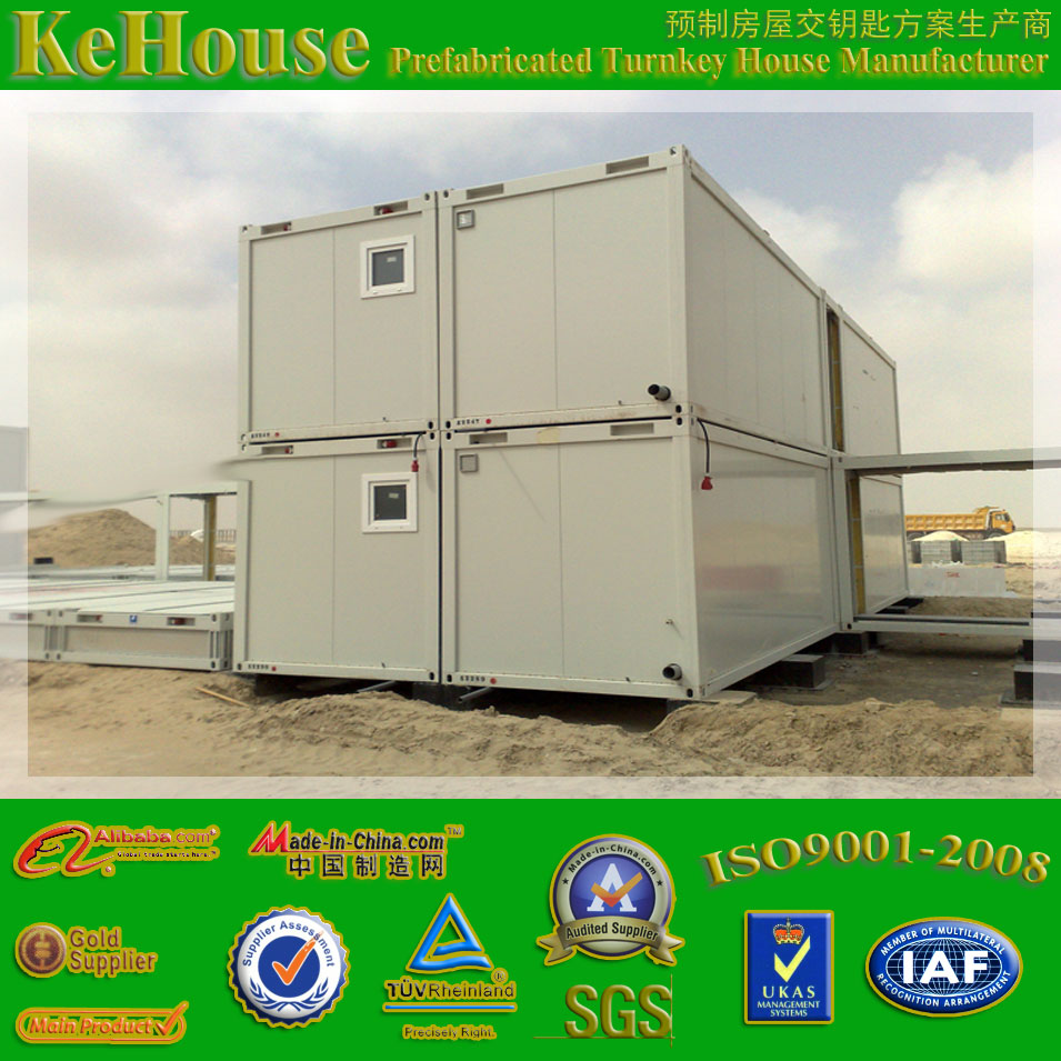 two-storey prefab house 20ft portable low cost prefabricated office container