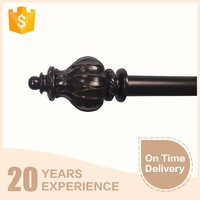 Classic european style finial with metal curtain pipes wholsale