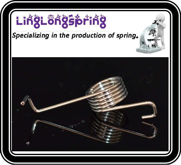 Factory processing custom zinc plated torsion spring