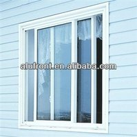 Aluminium profile interior sliding window with decoration bar and tempered glass