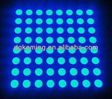 led dot matrix display 8x8 blue 5mm led matrix