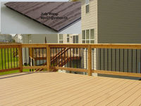 outdoor wpc decking used fro balcony &swimming pool &terrace
