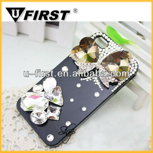Fashion butterfly 3d bling mobile phone case for iphone 5""