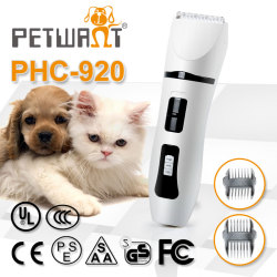Eco-Friendly with replacement blades rechargeable pet clippers to dog
