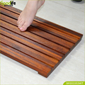 Hot sale non slip bath mat in teak wood price competitive FOB shenzhen