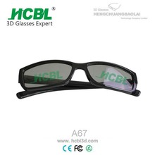 eyeglasses with clip on 3d converter with polarized glasses