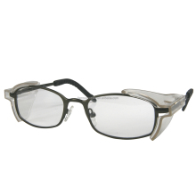 RX ansi Z87 metal safety glasses with side shields