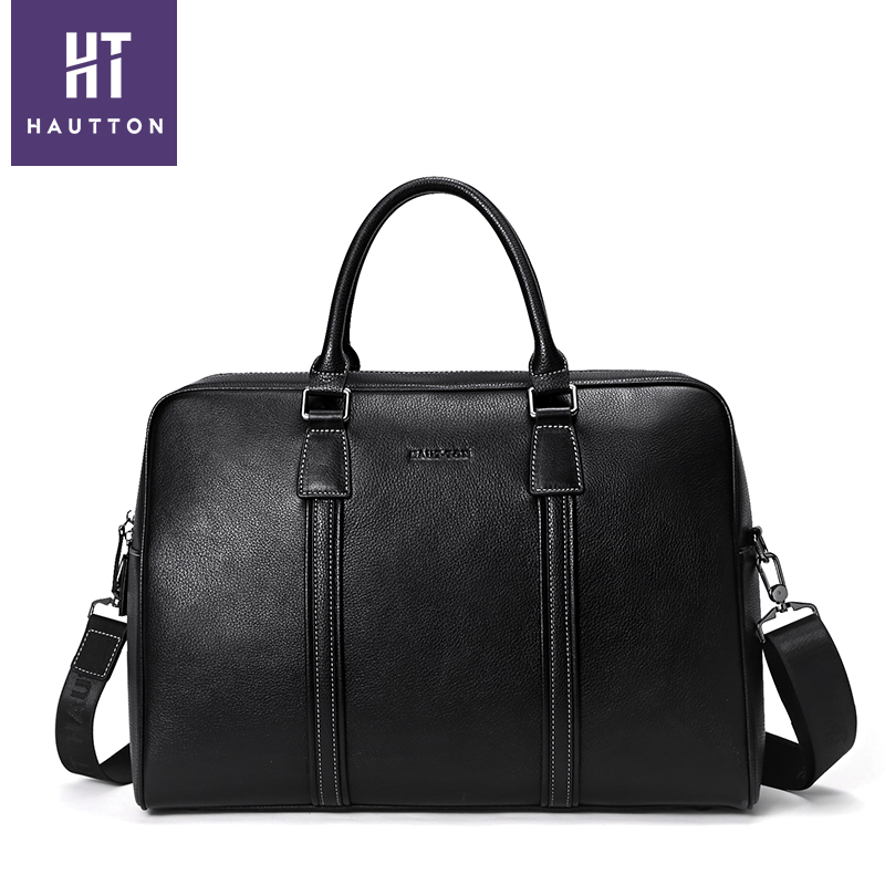 Guangzhou Factory OEM high quality Genuine Leather Man business Custom Briefcase 2018