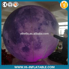Customized Led Inflatable Solar System Planet , Advertising Inflatable Earth Globe for Promotion
