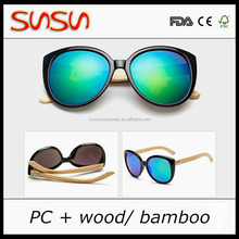 bamboo sunglass with plastic frame bamboo arms eyeglass