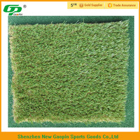 C shape artificial grass for soccer pitch natural color