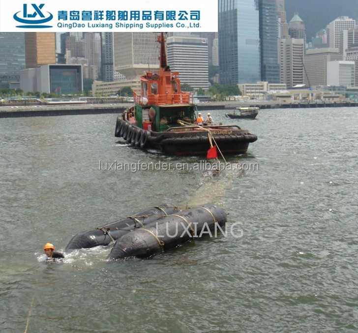 luxiang brand best quality D1.5*10m marine using rubber inflatable salvage pontoon boats
