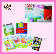 Kids Mosaic Stickers Art Puzzle DIY 3D Diamond Pasted Cartoon Character Children's Educational Toy