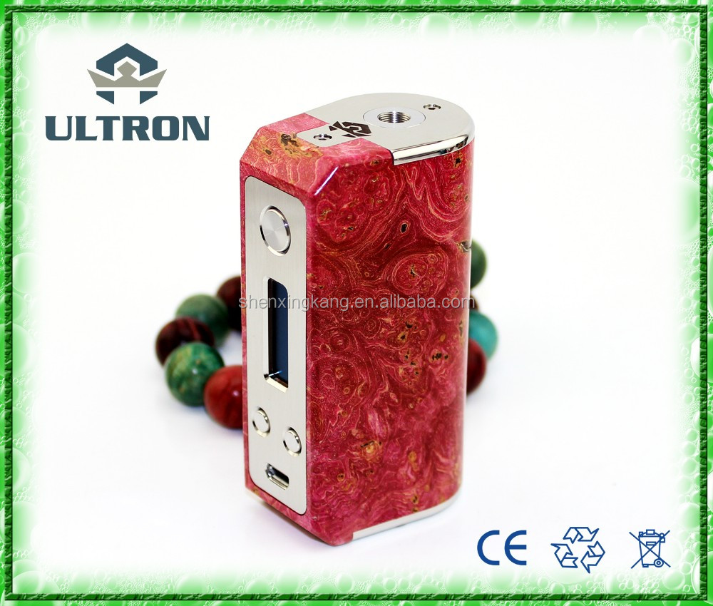 2017 trending product SXK 26650 Ares stabwood 70w mod Ares 26650 stabilized wood box mod from China Suppliers