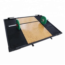 Pro <strong>W</strong>/ 6 Rubber Tiles Deadlifts Squats Band Work OLY Gym Weight Lifting Wood Weightlifting Platform for Sale