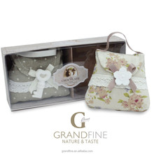 diffuser gift set handbag shape scented linen fabric sachet with plaster in PVC gift box