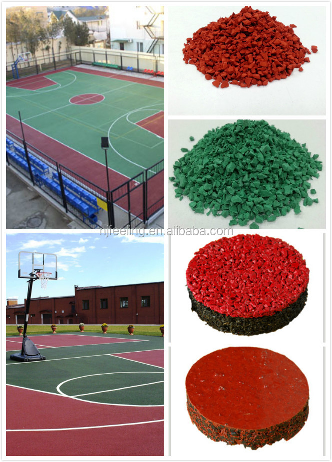 EPDM rubber basketball flooring, rubber sports flooring surface -FN-D-15012201