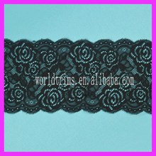 Wholesale High Quality Black Stretch Lace Trim Yard WNL89