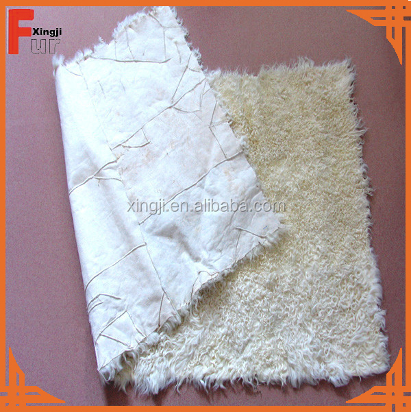 Natural color kalgan lamb fur plate