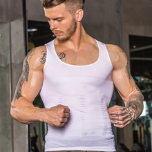 High Quality Seamless Fitness Tank Top Men Gym Custom Sliming Corset