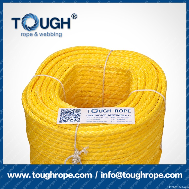 Pulling the Titanic orange synthetic winch rope 100% for international market/export