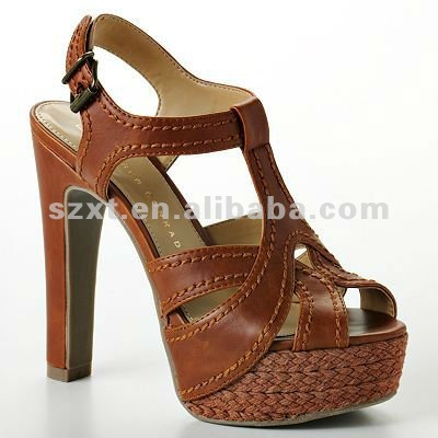 Fashion platform women high heel thick heel lady sandal shoe Elegant lady summer shoes 2014