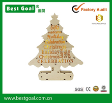 2015 Newest LED christmas tree wooden art