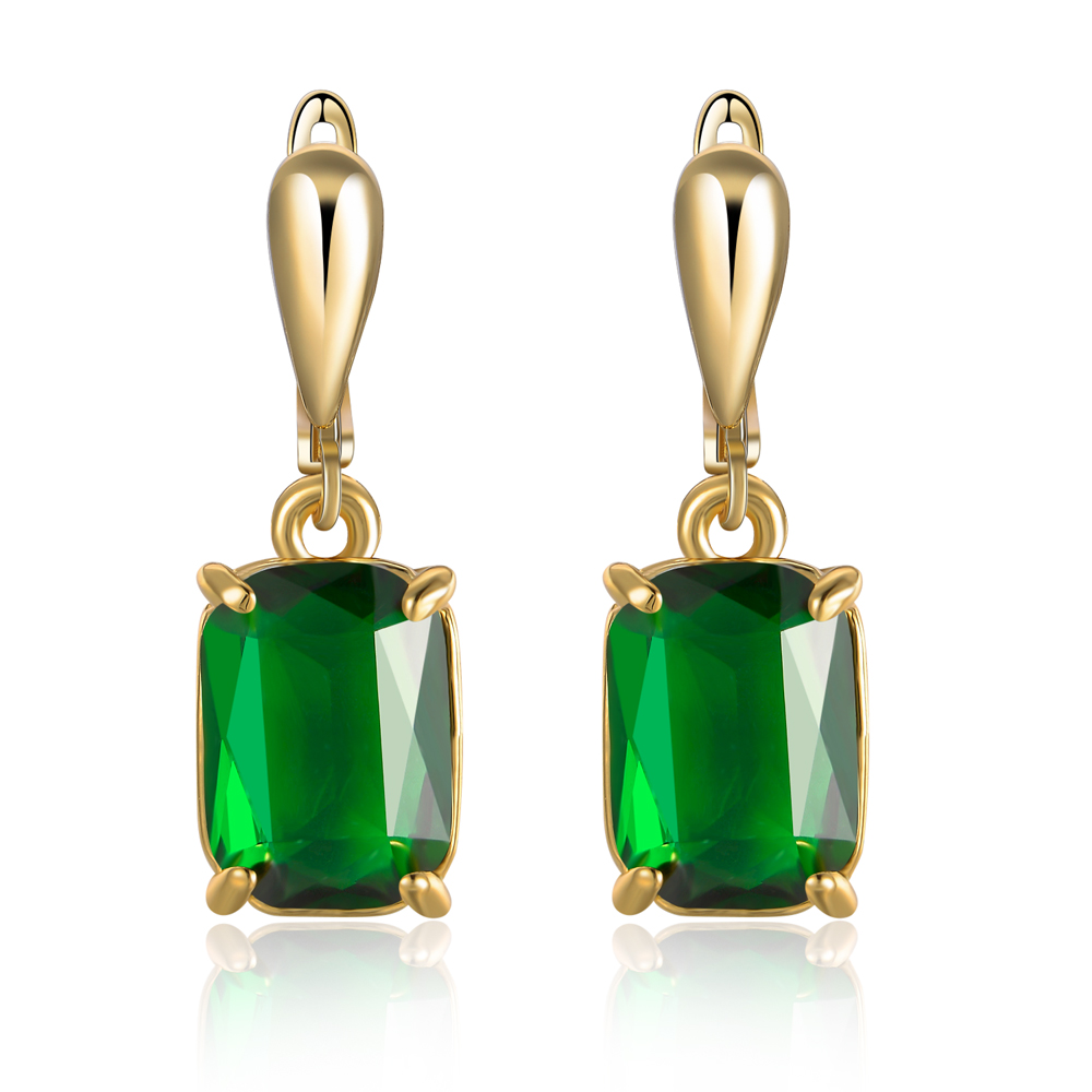 2017 New Arrival Crystal African Jewelry Women Wedding Gift Simple Gold Earring Designs