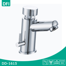 Time Delay Copper Water Tap Chrome Plated Push Button Wash Basin Faucet