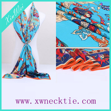 Custom & Wholesale Fashion Brand Digital Print Satin Silk Scarf