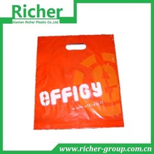 Logo Custom Orange Reusable Plastic Die Cut Package Bag