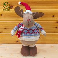 35CM Animated Christmas Deer Decoration Supplier Cheap
